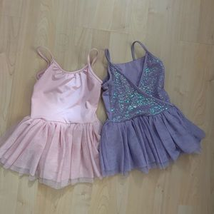 Mirella Sequin Leotards Set 6-7 fits 5-6